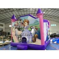Wholesale Pink Castle Princess Inflatable Bouncer Slide Combo With 18 OZ Vinyl PVC Material from china suppliers