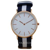 China YJ792 famous design nylon strap watch, hot sales ladies man watch for sale