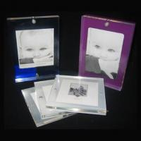 Wholesale tabletop custom clear acrylic baby footprint frame cute baby funny photo frame picture photo frame from china suppliers