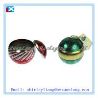 Wholesale small ball shape tin box for candy packaging from china suppliers