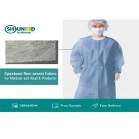 China Non Toxic Medical Breathable Non Woven Fabric Disposable Surgical Gown Fabrics on sale
