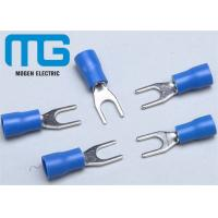 Wholesale SV 1.25-4 copper Insulated spade female terminals Fork-shaped Cable end terminals from china suppliers