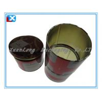 Wholesale round metal tea tin box from china suppliers