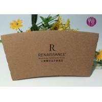 Wholesale Diameter 86mm Logo Printed Custom Coffee Cup Sleeves By Kraft Paper from china suppliers