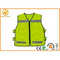Buy cheap Construction Reflective Work Vests , Velcro Highway Safety Vest with Pockets from wholesalers