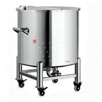 China Single-layer Stainless Steel Tank, Top Open Water Storage Tank, Fixed Single Layer Stainless Steel Container on sale