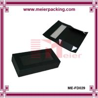 Wholesale Offset printing black cardboard paper wine box/Logo customized flat paper box ME-FD029 from china suppliers