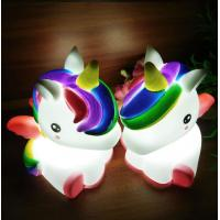 Buy cheap Light Up Unicorn 7 LED Colors Change Shine Night Light Novelty Toy For Kids Flashing My Little Pony from wholesalers