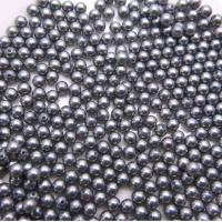 Wholesale High Quality Round Shape 4mm Gray  Half Hole Shell Pearl Loose Bead for DIY Handcraft from china suppliers