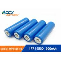 Quality shaver battery lithium ifr14500 3.2v 600mAh AA size for sale