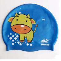 Wholesale Fasion and Health Silicone Childrens Swimming Hats Blue Swim Cap OEM from china suppliers