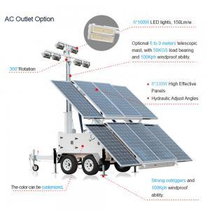 Wholesale Supply Protable Solar Light Tower MOS-2400A-L Mobile Solar Light Tower from china suppliers