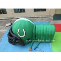 Wholesale Customized Inflatable Sports Games , Inflatable football helmet with tunnel from china suppliers