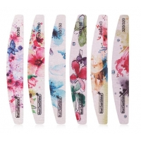 Buy cheap Flower Printed 100 180 Nail Files Nail Buffer Block Colorful 80/100/150/180/240/320 Washable File Manicure Tool from wholesalers