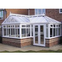 Wholesale Powder Coating High End Greenhouses , White Aluminum Frame Greenhouse from china suppliers