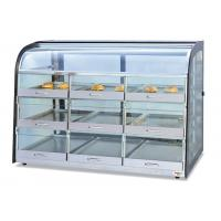 Table Top Glass Food Warmer Showcase Drawer-Type 3-Layer 9-Pans Bread Display Cabinet