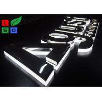 China Half Lit LED Channel Letter Signs 2835 SMD LED Source With Polished Stainless Body on sale
