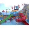 Comfortable Safe Aqua Park Design With Stainless Steel Fastener / Fiberglass Flume for sale