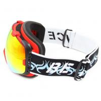 Quality Red Adult Pressional Snow Boarding Goggles Double Lens Three Layer Foam for sale