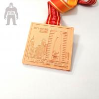 Wholesale Round Square Rose Metal Gold Medal Prize Gold Medal For Team Competetion Running Match from china suppliers