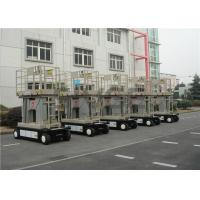 Wholesale Four Mast Self Propelled Aerial Work Platform 10m For Continuous Aerial Working from china suppliers