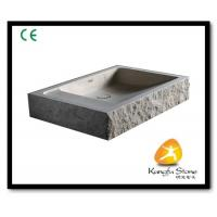 Xiamen Kungfu Stone Ltd supply Beige Marble Stone Sink Basin For Indoor Kitchen,Bathroom for sale