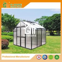 China Optional PC/Glass Glazing, Freely Extended Classic Aluminium Hobby Greenhouse - 195X253X250CM (L X W X H) on sale