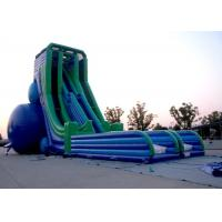Wholesale Customized 0.55mm PVC Fire Resistant Outside Big Inflatable Slide Rental from china suppliers