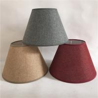 China round linen fabric lampshade for sale