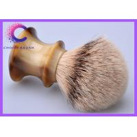 Quality Traditional Handmade high mountain silver tip badger shaving brush faux horn handle for sale