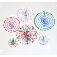 China Candy Color Paper Fan Hanging Inside Door Decorations for sale