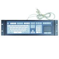 Wholesale NR1P:Membrane rack-mounted industrial metal keyboard with touchpad from china suppliers