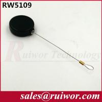 Wholesale Anti Theft Pull Box , Round Smallest Retractable Security Cord With Loop Cable End from china suppliers