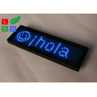 China Rechargable Blue Red Yellow Programmable LED Name Badge Sign In Worldwide Languages on sale