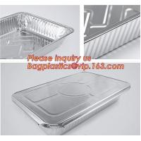 China Silver Foil Rectangular Takeout Container with paper lid,Kitchen Use Aluminum Foil Container,700ml food storage containe on sale