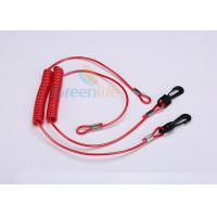 Wholesale Extended Fishing Rod Safety Leash , Long Flexible Coil Lanyard Kill Switch Ripcord from china suppliers