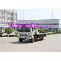 Wholesale Flat Bed Diesel Engine Wrecker Tow Truck With Lifting Weight 465kgs , Loading 2tons from china suppliers