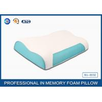 Wholesale Wave Memory Foam Contour Pillow , Orthopedic Sleeping Pillow With Zipper Cover from china suppliers