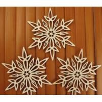 Wholesale Christmas Ornaments Wooden Snowflake plywood hanging ornaments from china suppliers