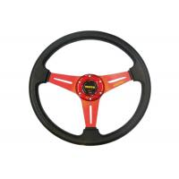 Wholesale Auto Accessories PVC Shell Deep Dish Steering Wheel 350 Mm With Aluminum Stand from china suppliers