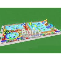 Wholesale New design portable inflatable water park playground with elephant slide park for summer from china suppliers