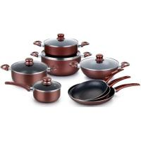 China Series of Hot selling press aluminum cookware set use non-stick coating pans on sale