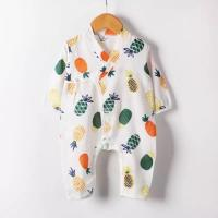 Wholesale MBP 013 Certified Muslin Baby Pajamas Two Layers Natural Summer Sleep Quick Dry from china suppliers
