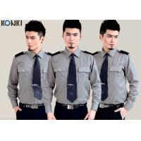 Quality Cotton Grey Security Guard Uniform With Long Sleeve Work Shirts for sale