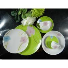 Color On Glaze 20 / 30 Piece Ceramic Dining Tableware Sets Food Grade Flexible Options for sale