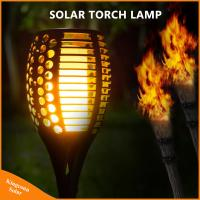 China 96 LED solar Torch Light Realistic Dancing solar Flame Light on sale