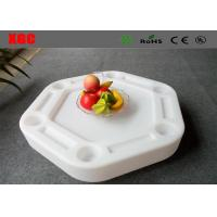 Wholesale Hollow Structure Floating Side Table  White Color For Swimming Pool from china suppliers