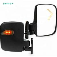 China Fully Adjustable Golf Cart Side Mirrors With Turn Signal Lights 2 Pounds Weight on sale