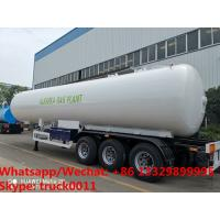 Factory sale best price CLW brand 20tons propane gas tank semitrailer for sale, HOT SALE! 49.6m3 lpg gas tank trailer for sale