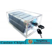 Wholesale Acrylic Casino Game Accessories Dealers Card Holder For 6 Decks Playing Cards from china suppliers